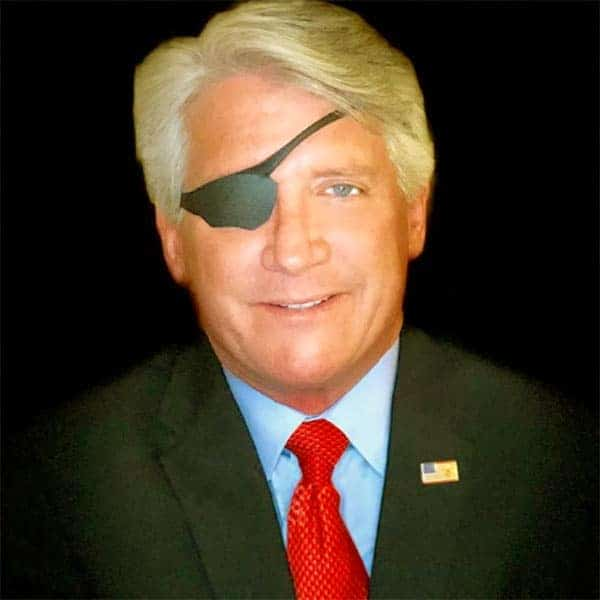 Image of Rich Emberlin got eye injury during serving the nation