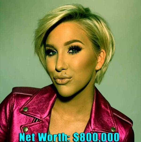 Image of American actor, Savannah Chrisley net worth is $800,000