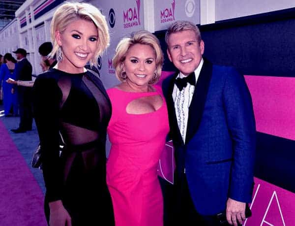 Image of Savannah Chrisley with her parents Todd Chrisley (father)and Julie Chrisley (mother)