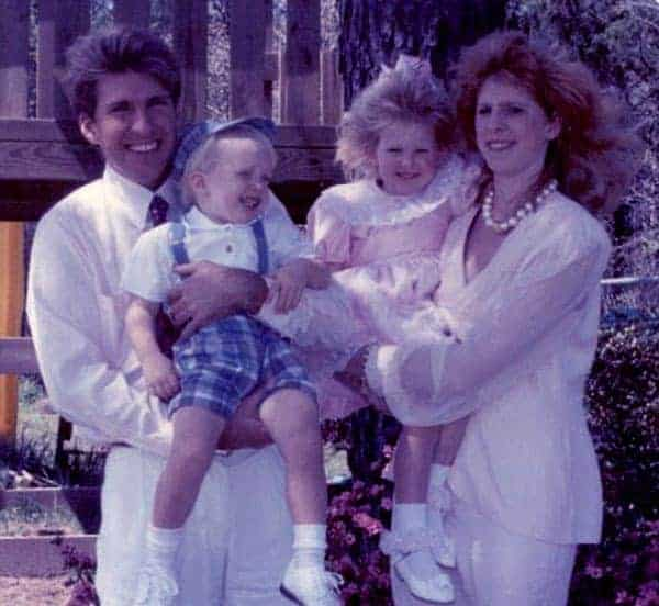 Image of Todd Chrisley with his ex-wife Teresa Terry and with their kids