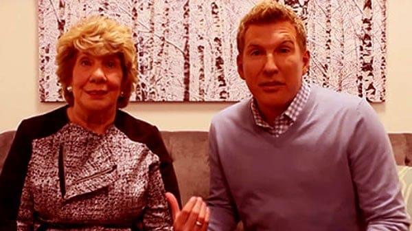 Image of Faye Chrisley with her son Todd Chrisley