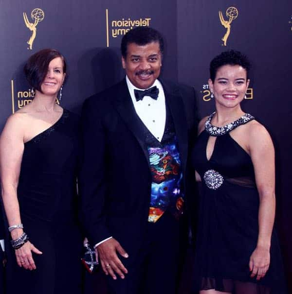Image of Miranda Tyson with her parents Alice Young (mother) and Neil DeGrasse Tyson (father)