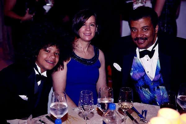 Image of Travis Tyson Tyson with his parents Alice Young (mother) and Neil DeGrasse Tyson (father)
