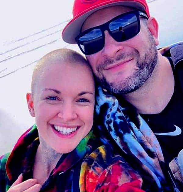 Image of Amanda Giese with her long-term boyfriend, Jeffree Roy.