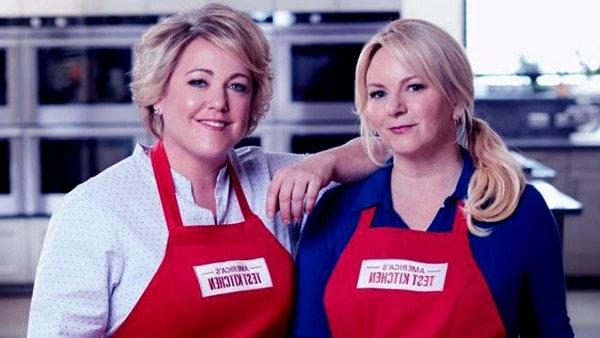 Image of Bridget Lancaster with her co-host Julia Davison