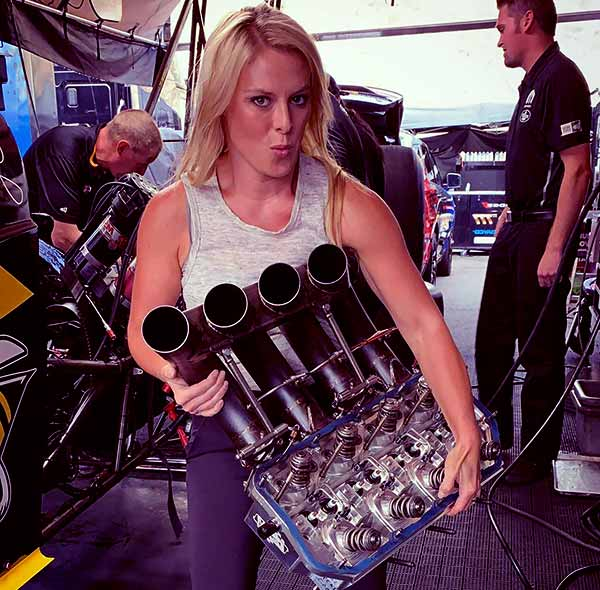 Image of Cristy Lee from the TV reality show, All Girls Garage