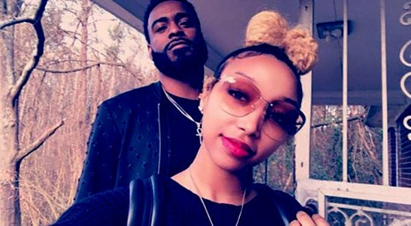 Image of Zonnique Pullins with her ex-boyfriend Damian Swann
