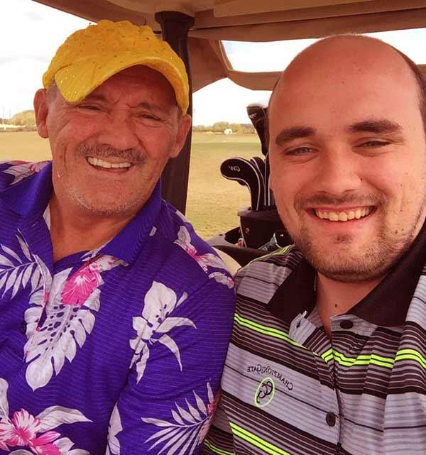 Image of Eric O'Carrol with his father Brendan O'Carroll