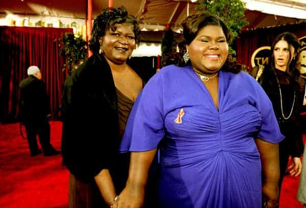 Image of Gabourey Sidibe with her mother Alice Ridley