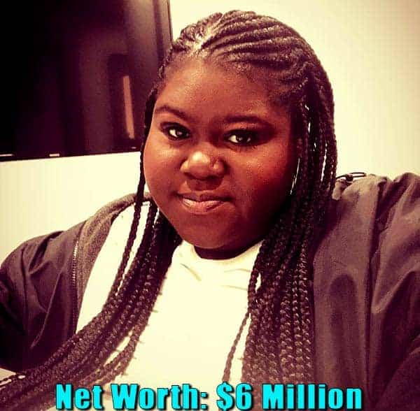 Image of American actress, Gabourey Sidibe net worth is $6 million