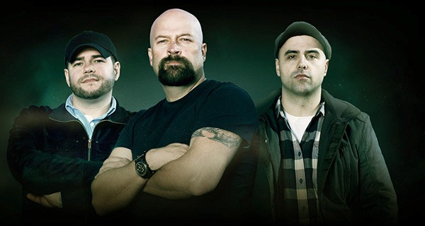 Image of Ghost Hunters cast Jason Hawes, Dave Tango, and Steve Gonzales with new show Ghost Nation