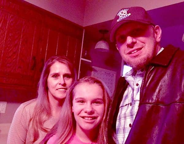 Image of Joe Zolper with his wife Jennifer Zolper and with his daughter Ruby Zolper