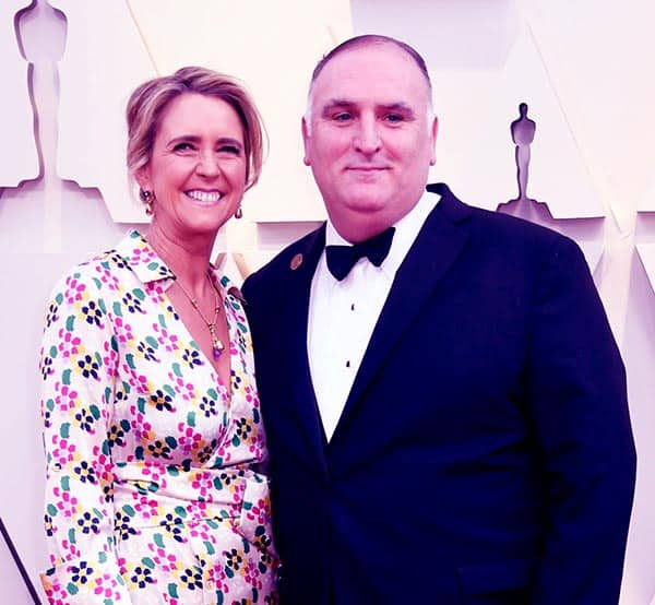 Image of Jose Andres with his wife Patricia Andres
