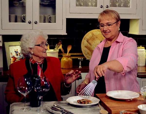Image of Lidia Bastianich with her mother Erminia Matticchio.