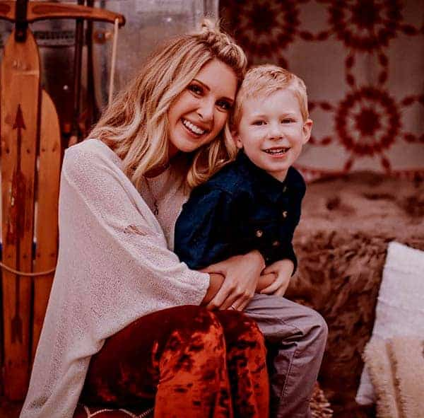 Image of Lindsie Chrisley with her son Jackson Campbell