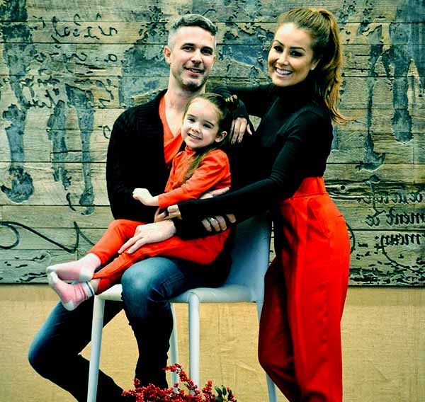 Image of Melissa Grelo with her husband Ryan Gaggi and with their daughter Marquesa Gaggi