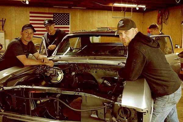 Image of Garage Squad cast, Ron Gregurich, Bruno Massel, Joe Zolper.