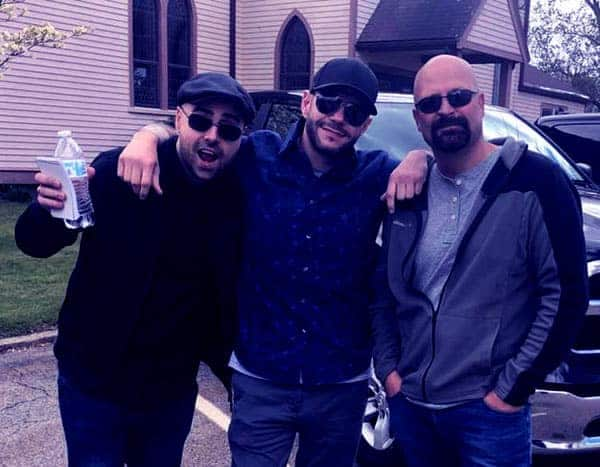 Image of Ghost Hunters castmate Jason Hawes (right), Steve Gonsalves ( middle) and Dave Tango (left)