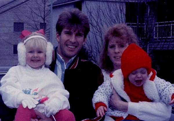 Image of Teresa Terry with her ex-husband Todd Chrisley and with their kids Lindsie Chrisley (daughter) and Kyle Chrisley (son)