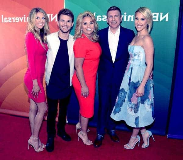 Image of Todd Chrisley with his wife Julie and with their kids Savannah, Chase and Grayson Chrisley