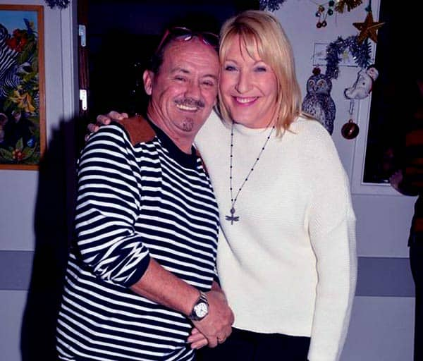 Image of Brendan O'Carroll with his second wife Jennifer Gibney