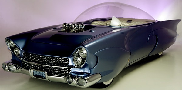 Image of American music executive, Barry Weiss car, Beatnik Glass Top