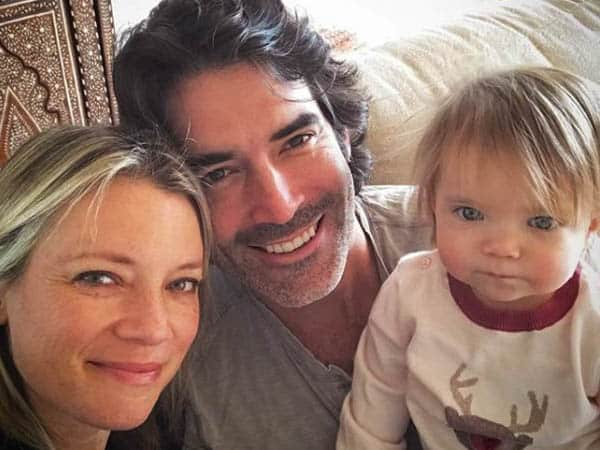 Carter Oosterhouse with his wife, Amy, and daughter