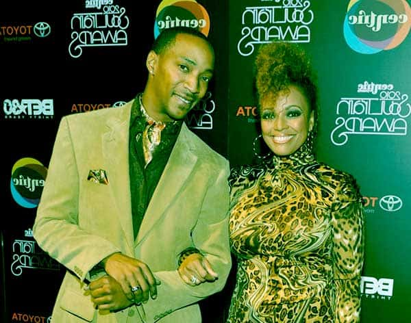 Image of Christopher Morgan with his wife Kim Field