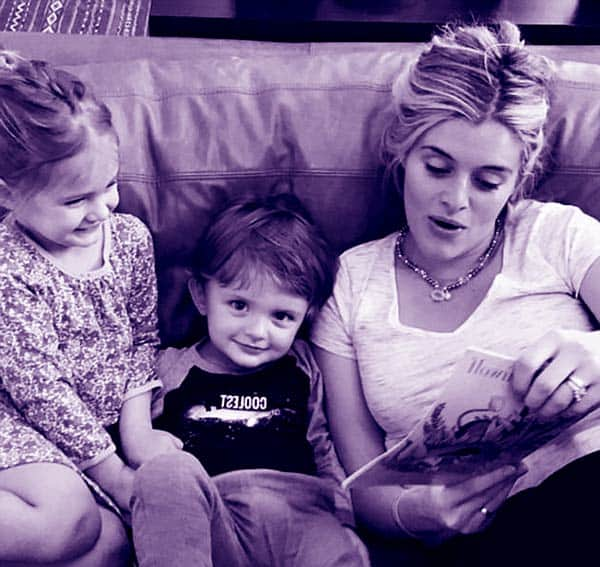 "Image of Daphne Oz with her kids Philomena ""Philo"" Bijou Jovanovic (daughter) and Jovan Jovanovic (son)"
