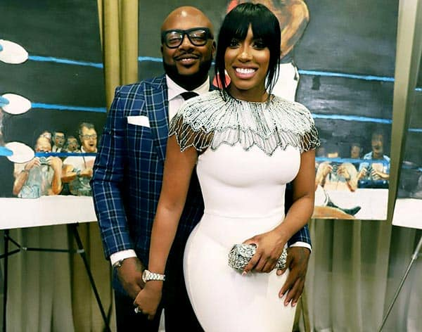 Image of Dennis McKinley with his wife Porsha Williams