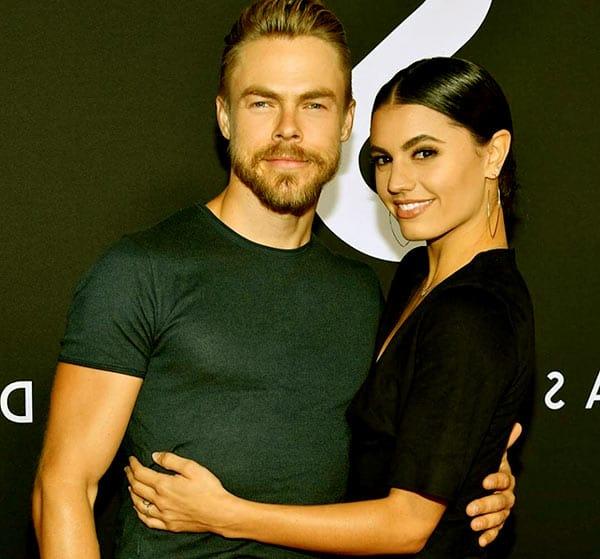 Image of Derek Hough with his girlfriend, Hayley Erbet