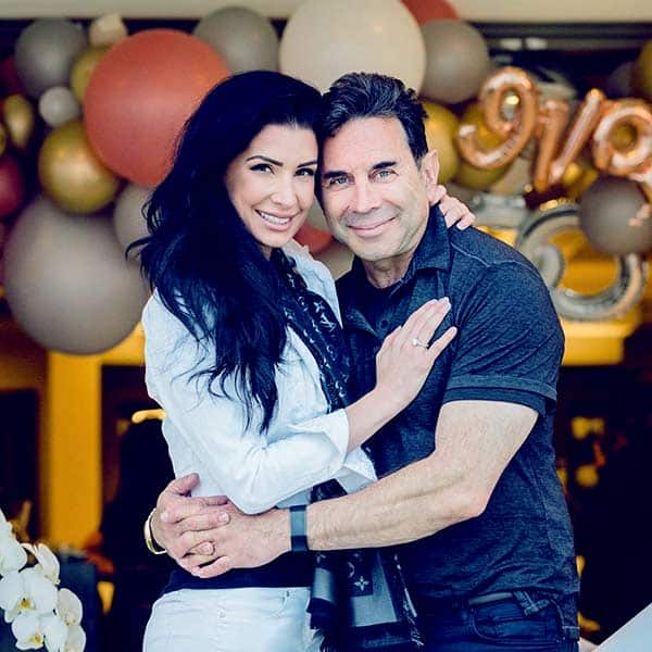 Image ofDr. Paul Nassif engaged with Brittany Pattakos