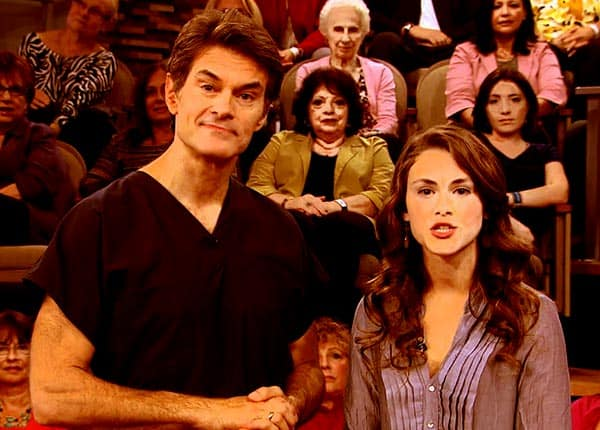 Image of Dr. Mehmet Oz with his daughter Zoe Yasemin Oz