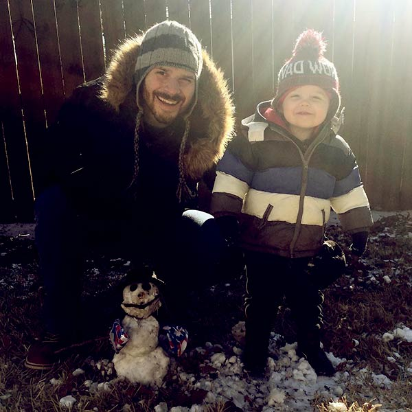 Image of Jenny Grumble husband Loren Koziol and son Thompsom Koziol