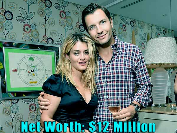Image of John Jovanovic wife Daphne Oz net worth is $12 million