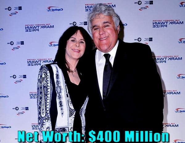 Image of Mavis Leno husband Jay Leno net worth is $400 million