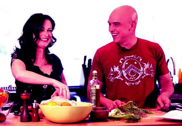 Image of Michael Symon with his wife Liz Shanahan