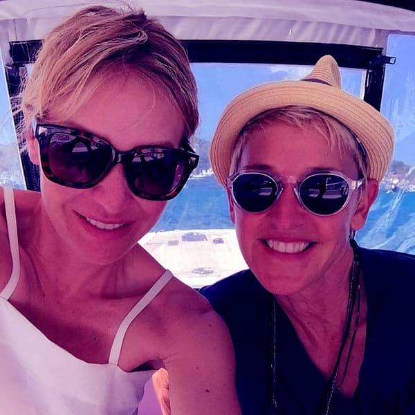 Image of Portia de Rossi wih her partner Ellen DeGeneres