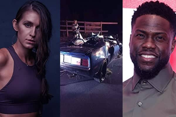 Image of Rebecca Broxterman and her co-rider Kevin Hart had a car accident