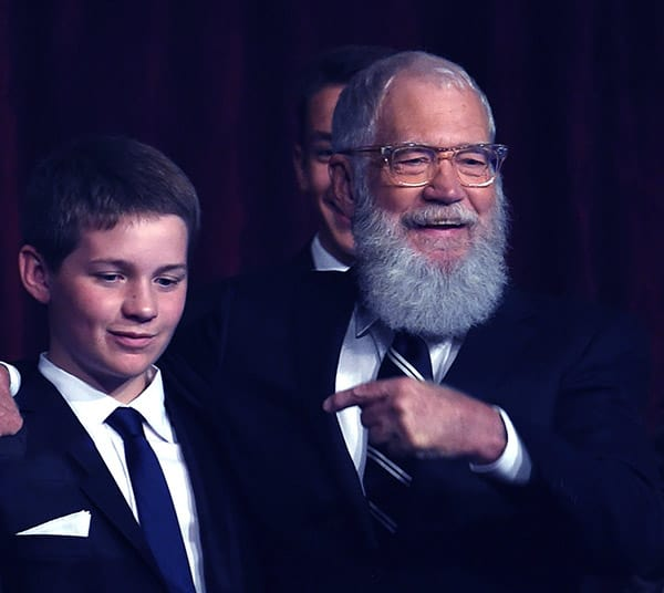 Image of David Letterman with his son Harry Joseph Letterman