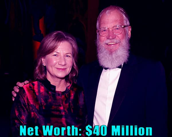 Image of Regina Lasko and her husband David Letterman net worth is $40 million