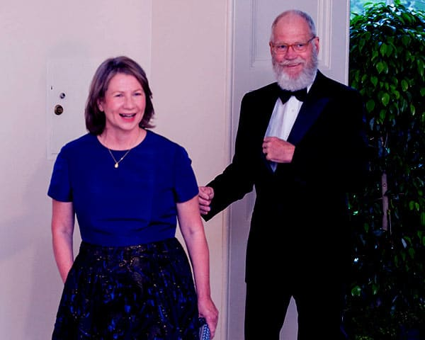 Image of Regina Lasko with her husband David Letterman