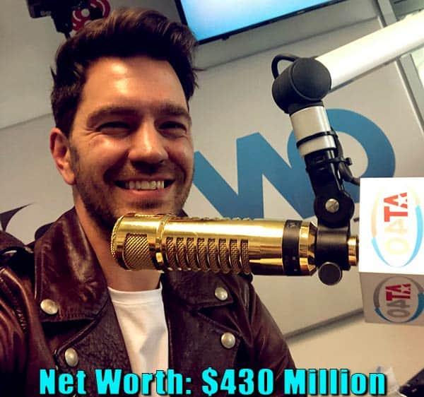 Image of TV host, Ryan Seacrest net worth is $430 million