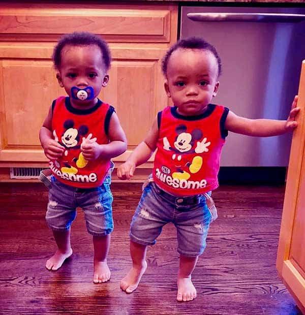 Image of Shamari Fears twins kids Ronald III DeVoe and Roman Elijah Devoe