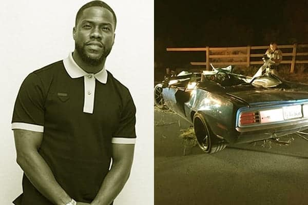 Image of Comedian, Kevin Hart had a car accident