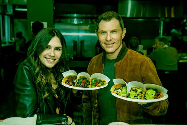 Image of Bobby Flay with his daughter, Sophie from his second wife, Kate's
