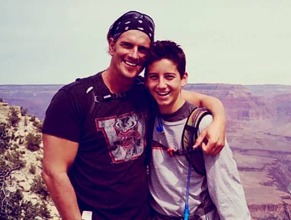 Image of Jeffrey Brezovar and his son Milo Manheim