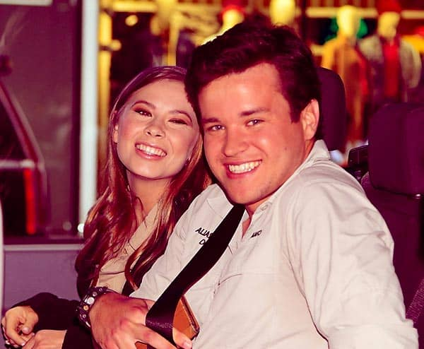 Image of Bindi Irwin with her fiance Chandler