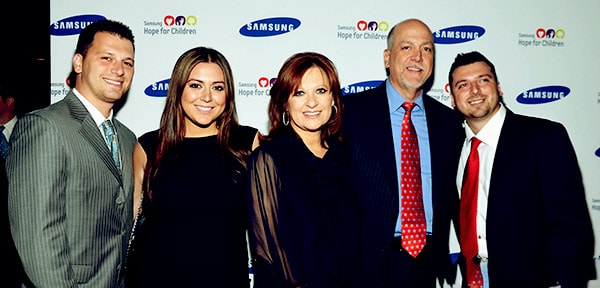 Image of Caroline Manzo and her husband Albert Manzo along with kids Lauren, Christopher and Albie Manzo