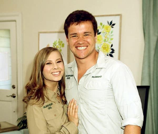 Image of Chandler Powell with his fiance Bindi Irwin